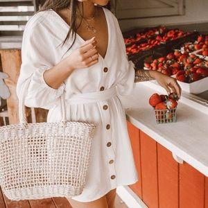 Forever 21 white wrap dress